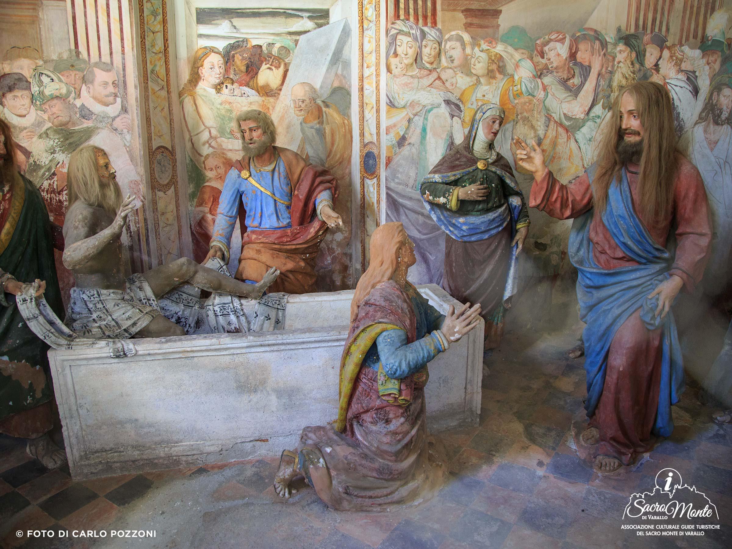 Sacro Monte di Varallo cappella la resurrezione di lazzaro