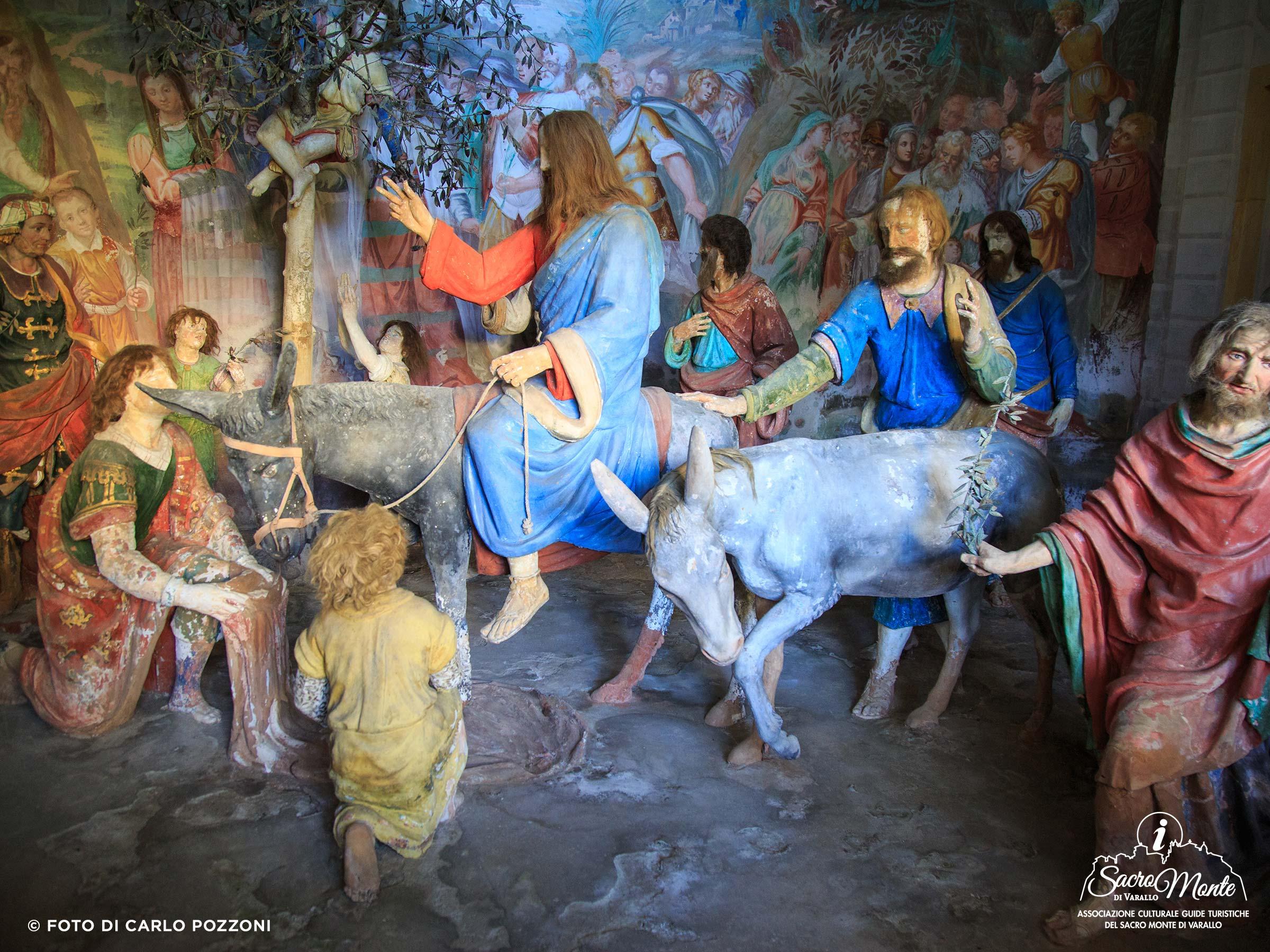 Sacro Monte di Varallo cappella ingresso in gerusalemme