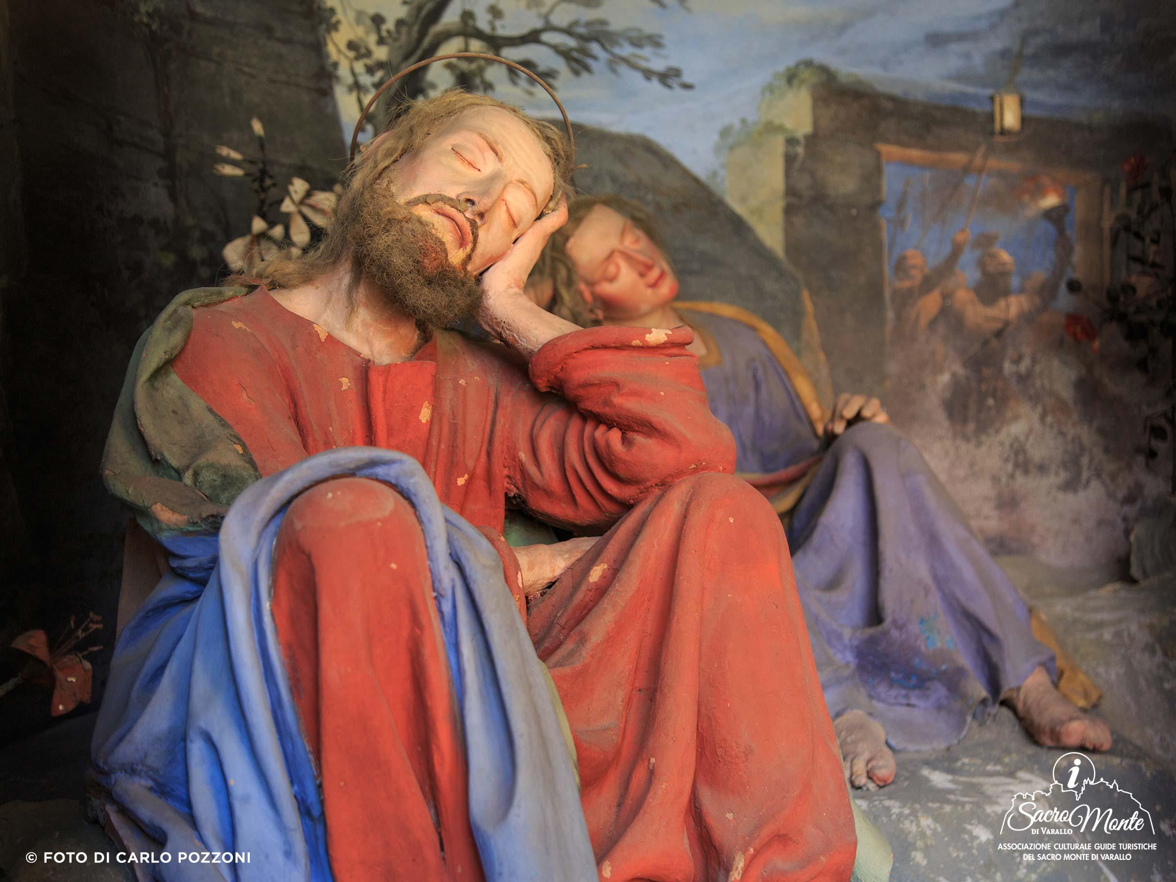 Sacro Monte di Varallo cappella gesu sveglia i discepoli