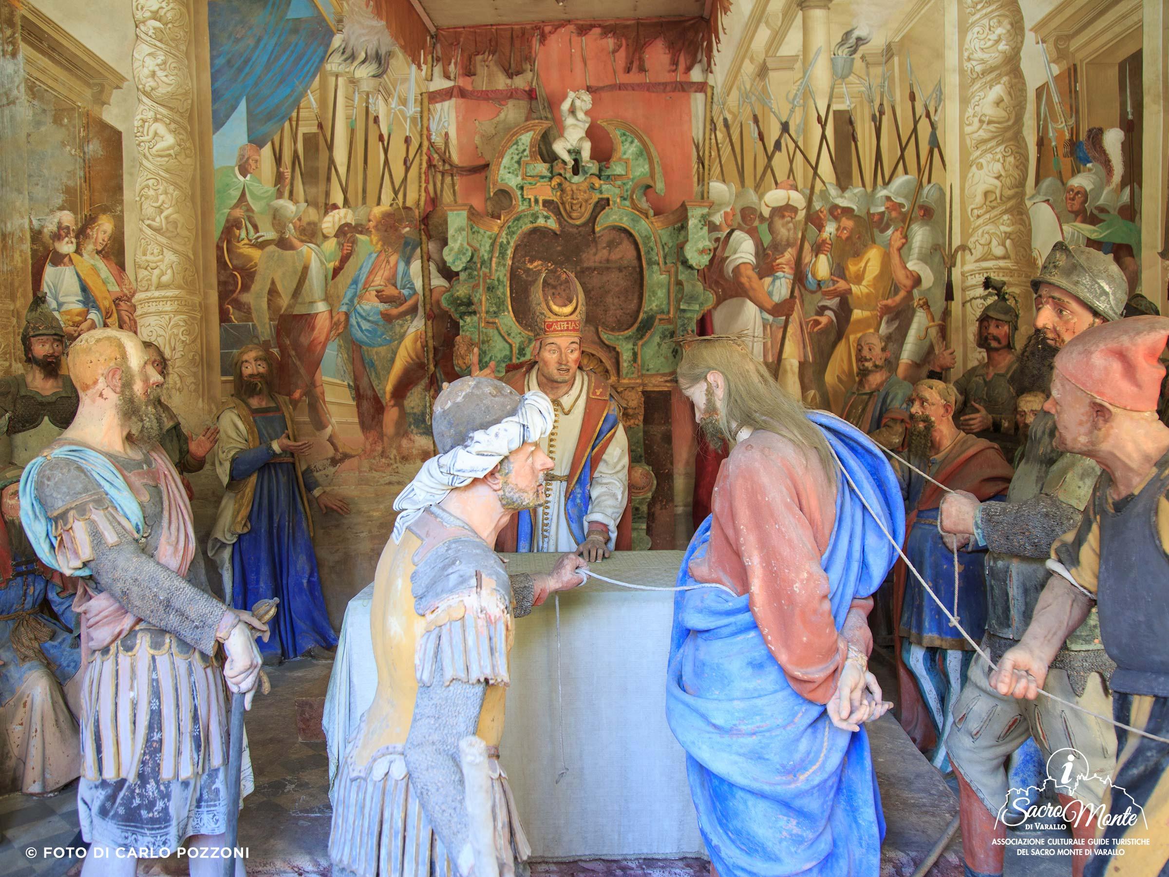 Sacro Monte di Varallo cappella tribunale di caifas