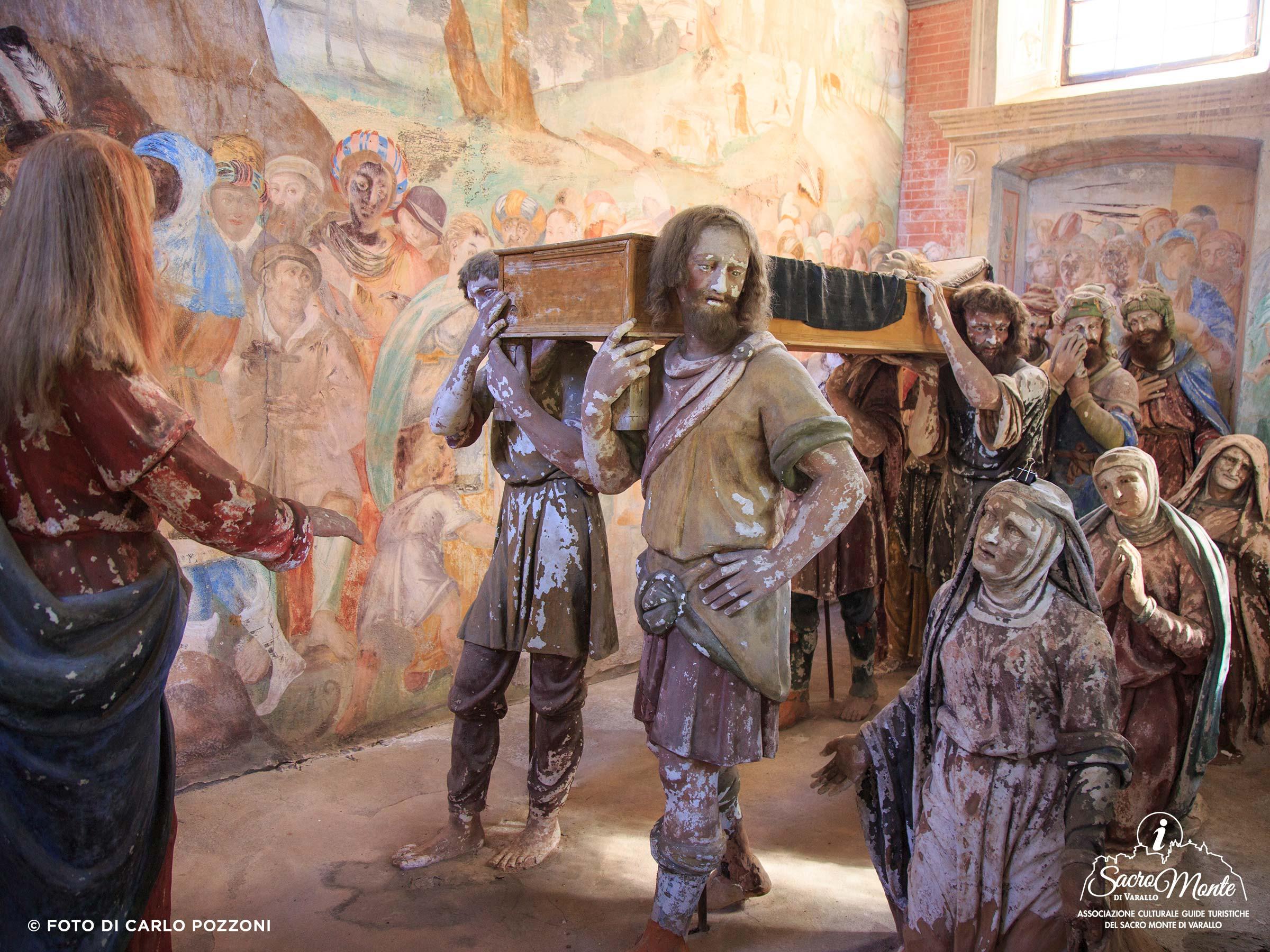 Sacro Monte di Varallo cappella figlio della vedova di naim