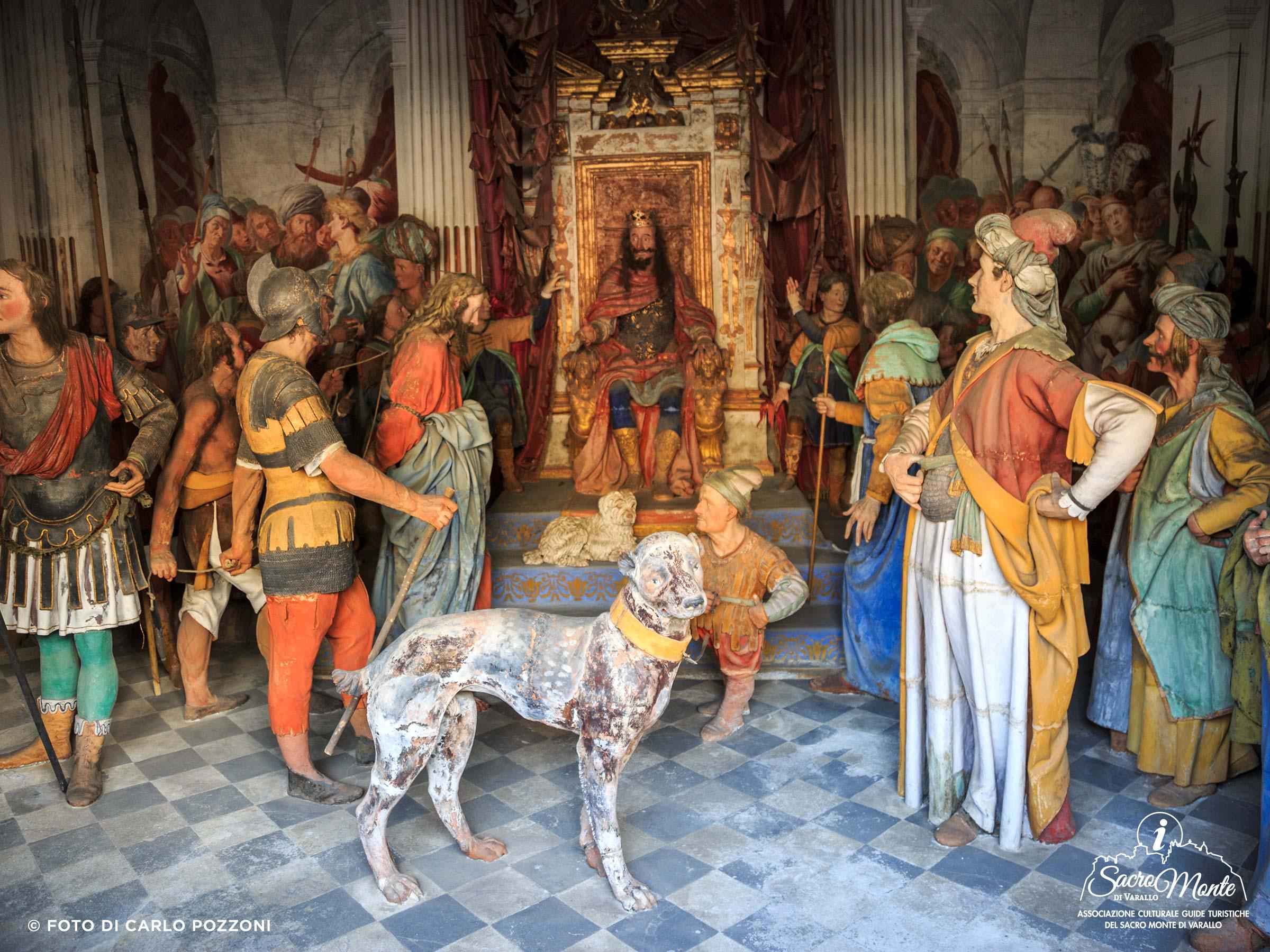 Sacro Monte di Varallo cappella tribunale di erode