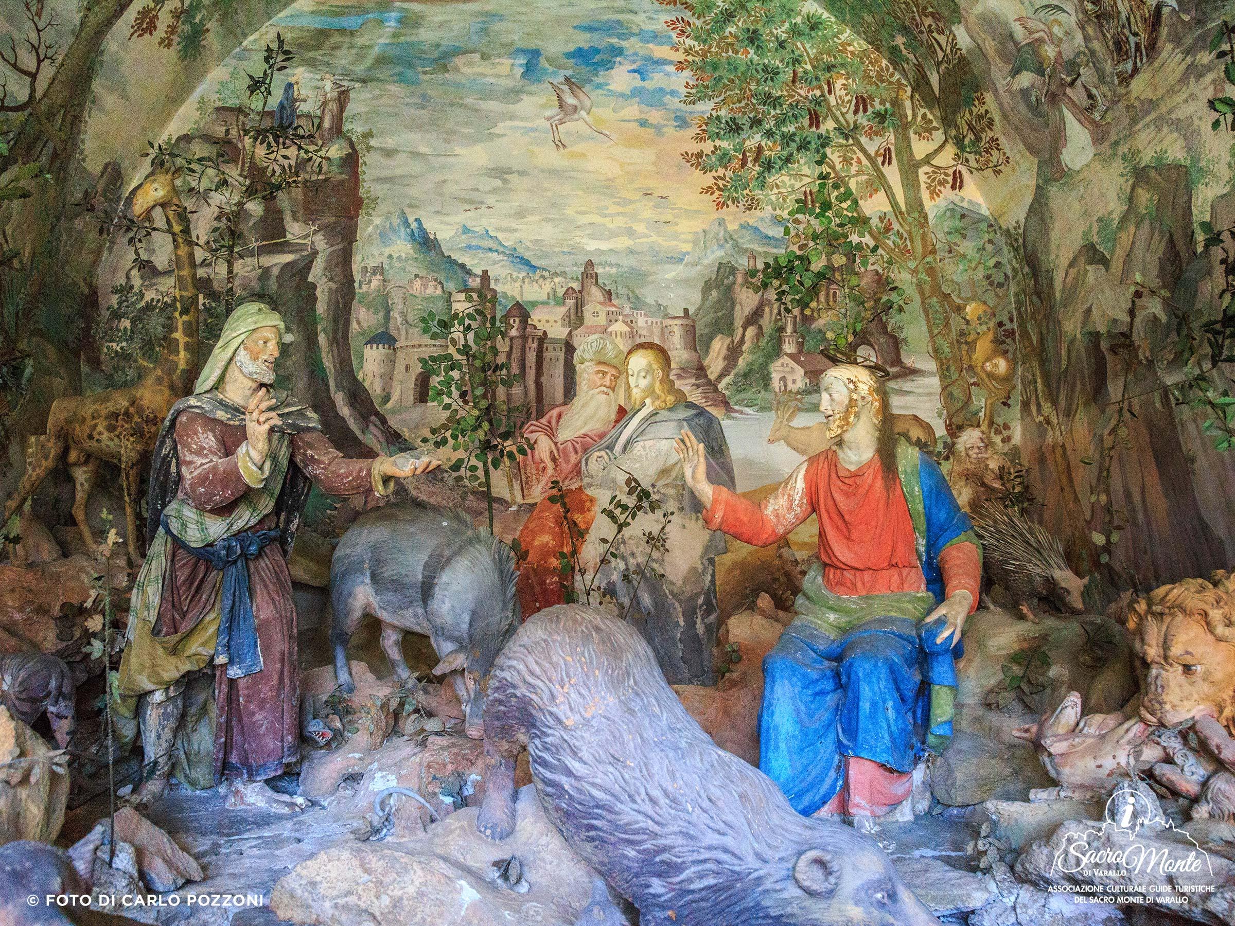 Sacro Monte di Varallo cappella tentazioni di cristo nel deserto