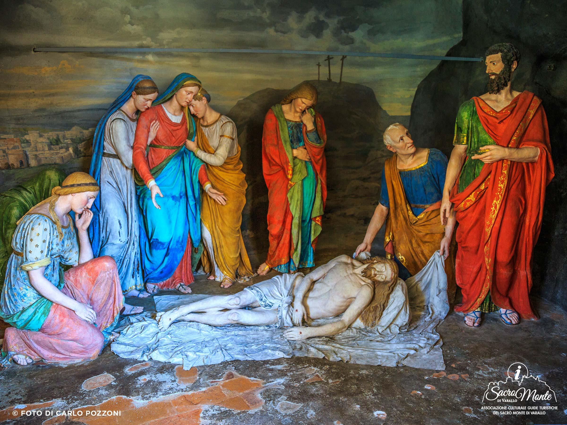 Sacro Monte di Varallo cappella deposizione nel lenzuolo
