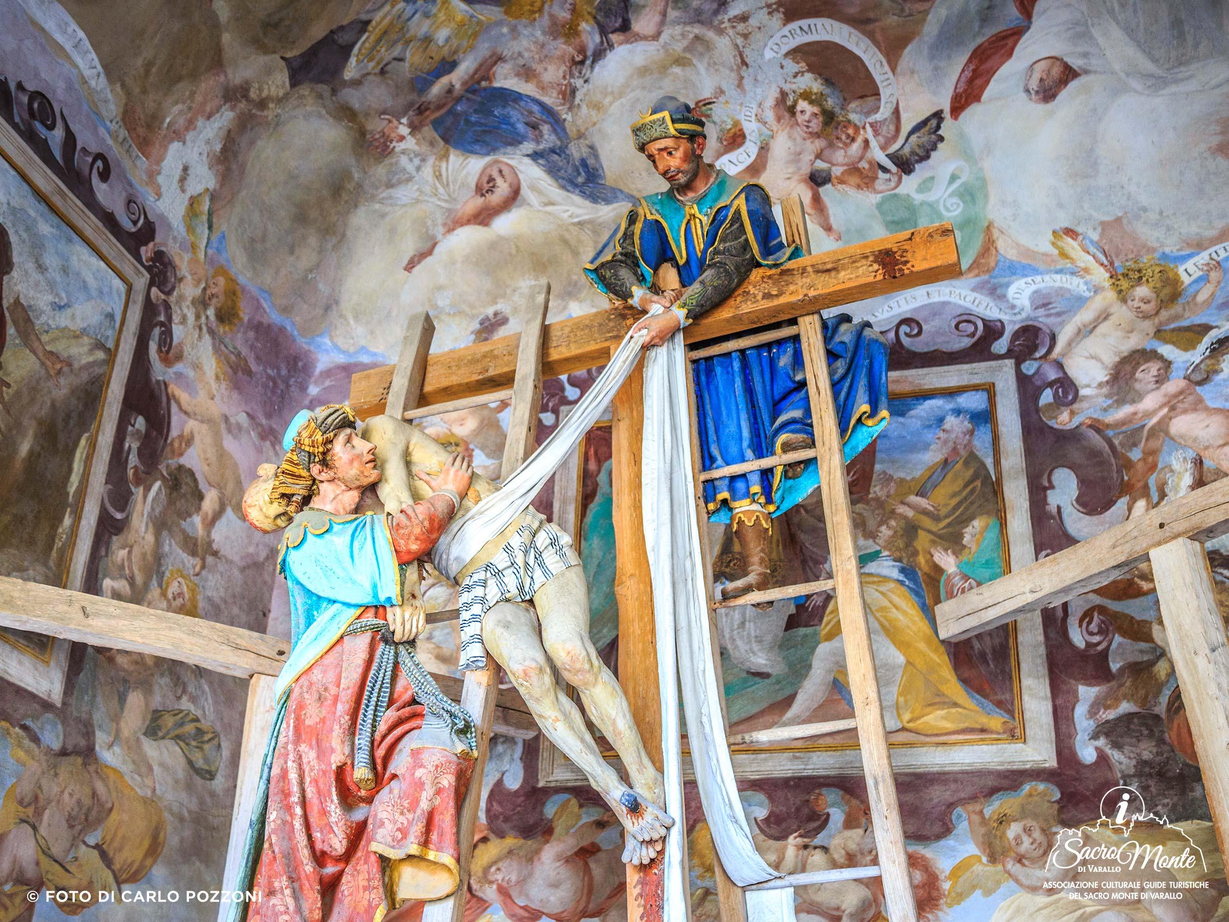 Sacro Monte di Varallo cappella deposizione dalla croce