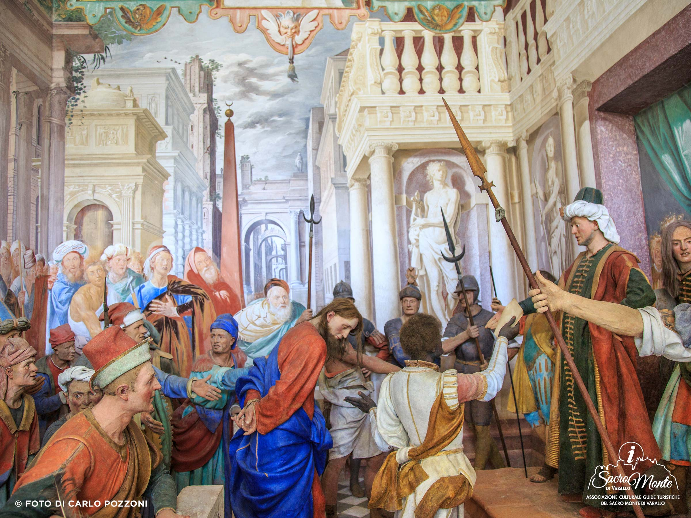 Sacro Monte di Varallo cappella cristo per la prima volta da pilato