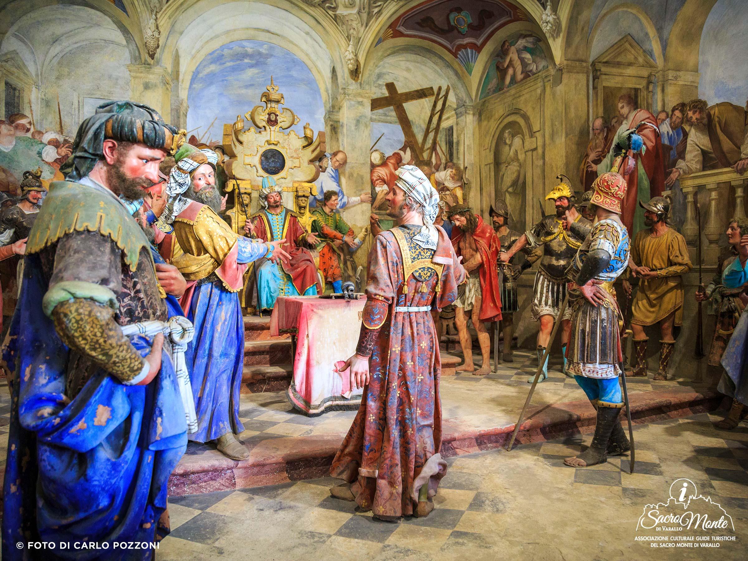Sacro Monte di Varallo cappella tribunale di caifa