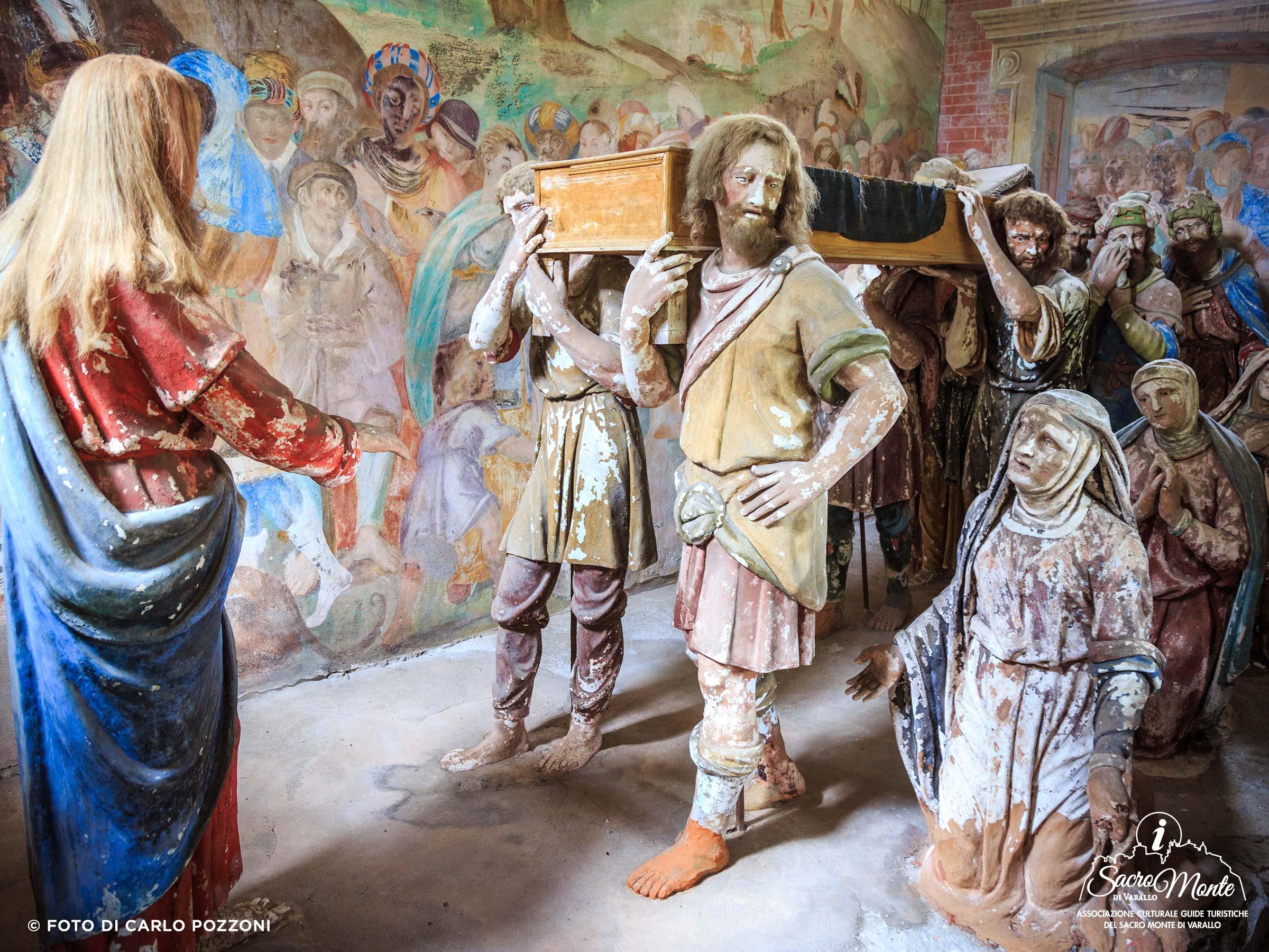 Sacro Monte di Varallo cappella filgio della vedova di naim